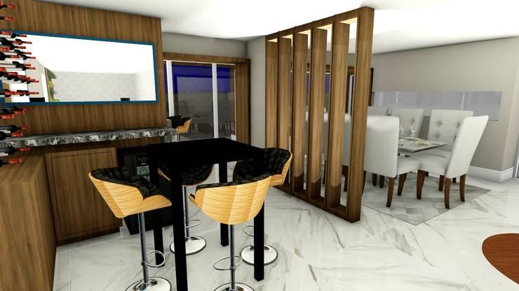 Adega integrada com sala de Jantar: Adegas modernas por Studio²