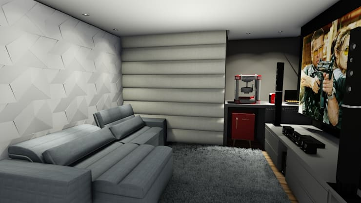 Home Theater: Salas multimídia  por Studio²