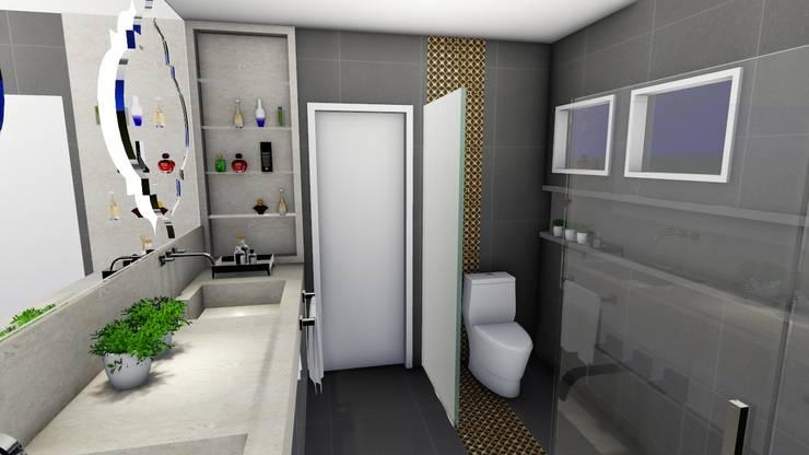 Banheiro Casal: Banheiros modernos por Studio²