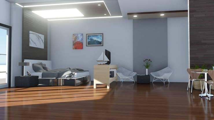 CONDO  HOTEL  STUDIOROOM:  ตกแต่งภายใน by SABPAROD STUDIO