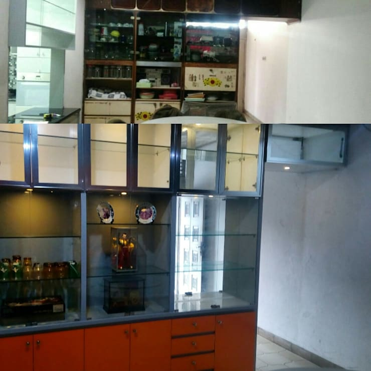 Before After : Dinning Cabinet:   by Interindo Rekatama Arkitura