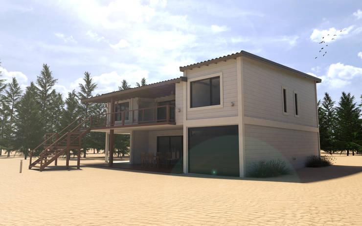 Vivienda unifamilar en la costa argentina: Casas de estilo  por JOM HOUSES,