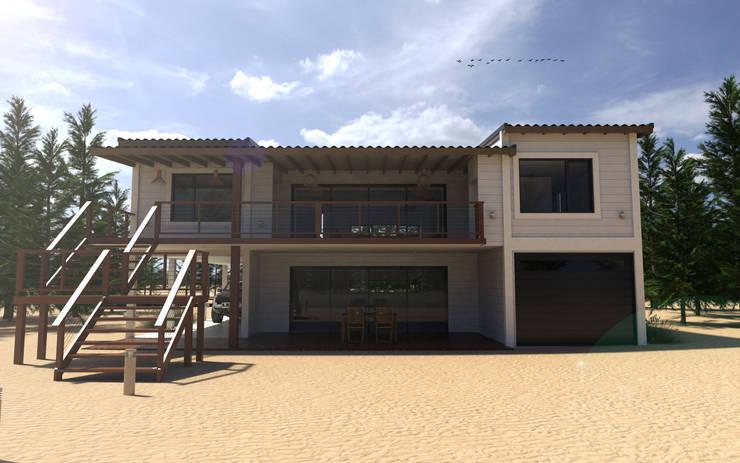 Vivienda en la costa argentina: Casas de estilo  por JOM HOUSES,