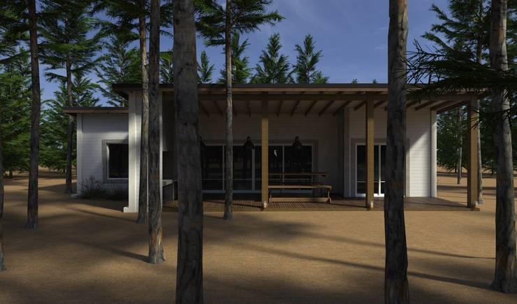 Vivienda Unifamiliar en el bosque: Casas de estilo  por JOM HOUSES,