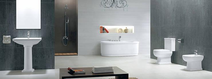 Modern Washroom:  Bathroom by Mithi Interiors Private Limited,Mediterranean