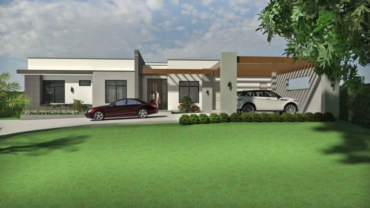Fachada acceso principal: Casas de estilo  por Arquitecto Pablo Restrepo