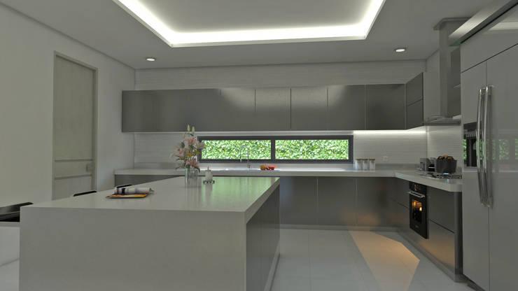 Isla cocina interior: Cocinas de estilo  por Arquitecto Pablo Restrepo