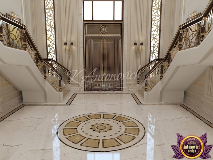 ​Interior Design in Sri Lanka  from Katrina Antonovich:  Corridor & hallway by Luxury Antonovich Design