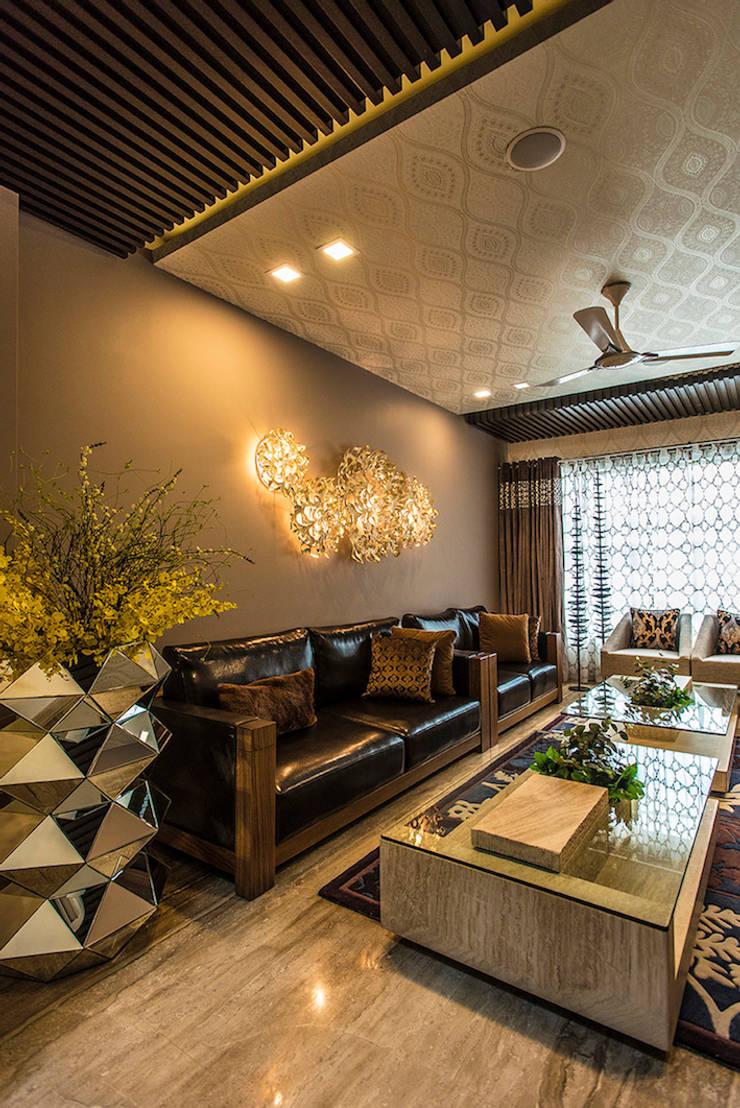 Formal Living Room:  Living room by Studio An-V-Thot Architects Pvt. Ltd.,Modern