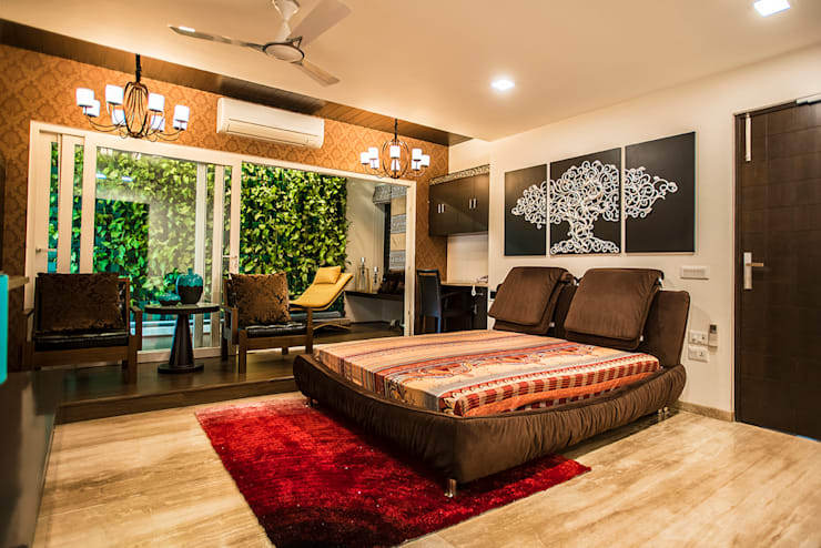 Bedroom-1:  Bedroom by Studio An-V-Thot Architects Pvt. Ltd.