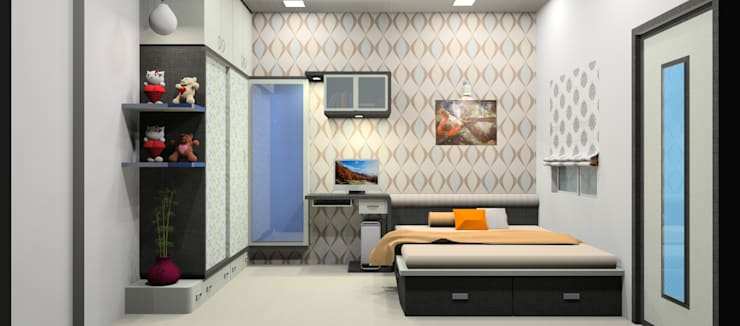 Interior Project:  Bedroom by Ingenious designs