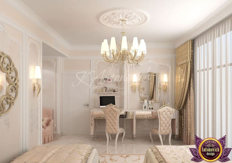   Children's room Design  of Katrina Antonovich:  Bedroom by Luxury Antonovich Design
