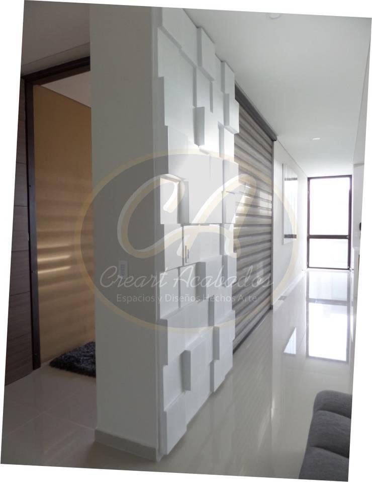 Revestimiento decorativo para muros: Box Panel: Paredes y suelos de estilo  por Creart Acabados,