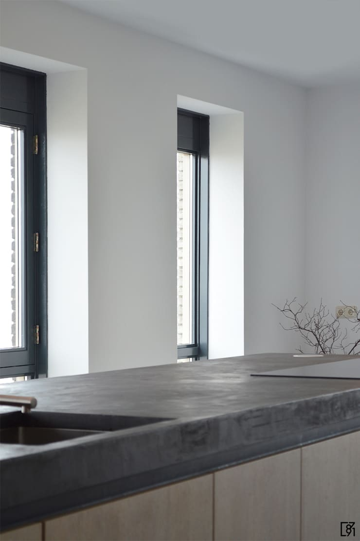 Penthouse Rotterdam:  Keuken door Atelier Perspective Interieurarchitectuur, Modern