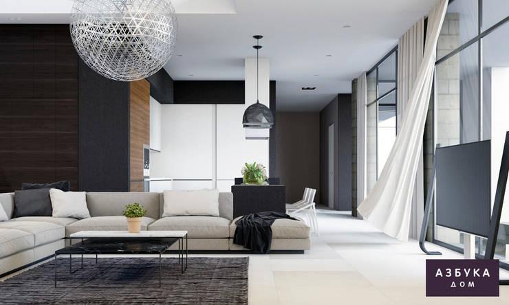 Living room by Студия дизайна 'Азбука Дом'