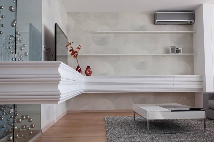 Projekty,  Salon zaprojektowane przez Архитектурная студия Чадо