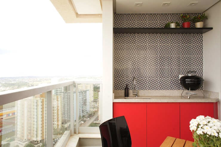 Projekty,  Taras zaprojektowane przez Lelalo - arquitetura e design