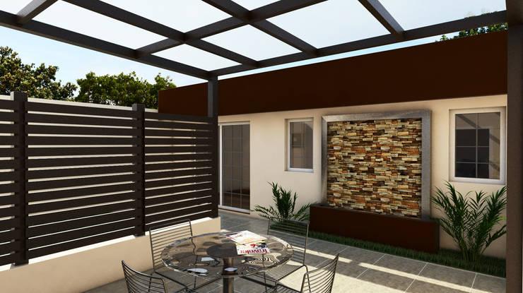 Casa IH: Jardines de estilo minimalista por BAUGËN STUDIO