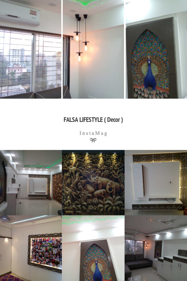 3BHK flat: modern  by Falsa lifestyle,Modern Wood Wood effect