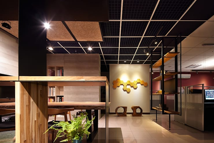 商辦空間設計 台北:  書房/辦公室 by 達圓設計有限公司