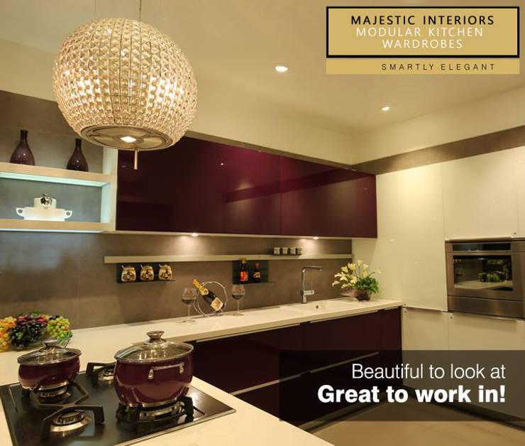 INTERIOR DESIGNERS IN FARIDABAD:  Kitchen by MAJESTIC INTERIORS