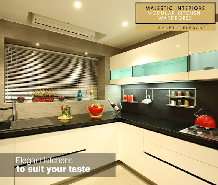 INTERIOR DESIGNERS IN FARIDABAD:  Kitchen by MAJESTIC INTERIORS