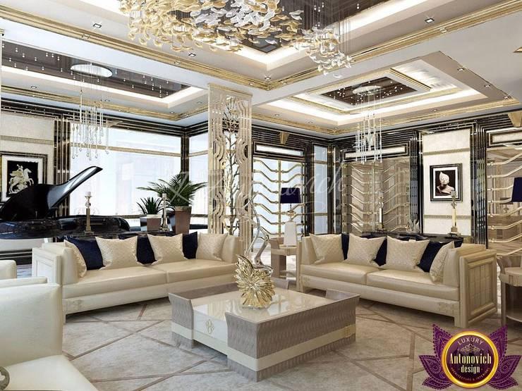   Apartment interior Dubai of Katrina Antonovich:  Living room by Luxury Antonovich Design, Modern