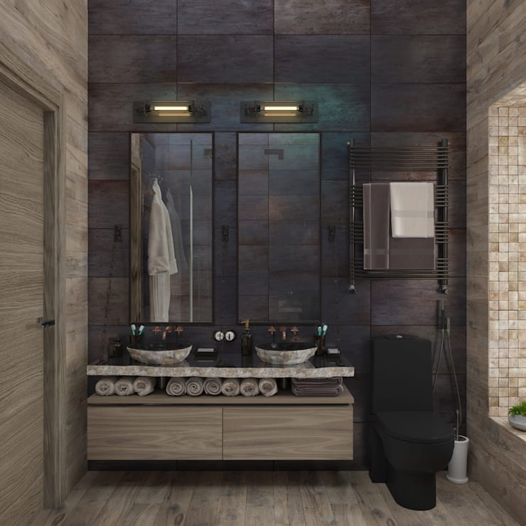 Baños de estilo industrial por 3D GROUP