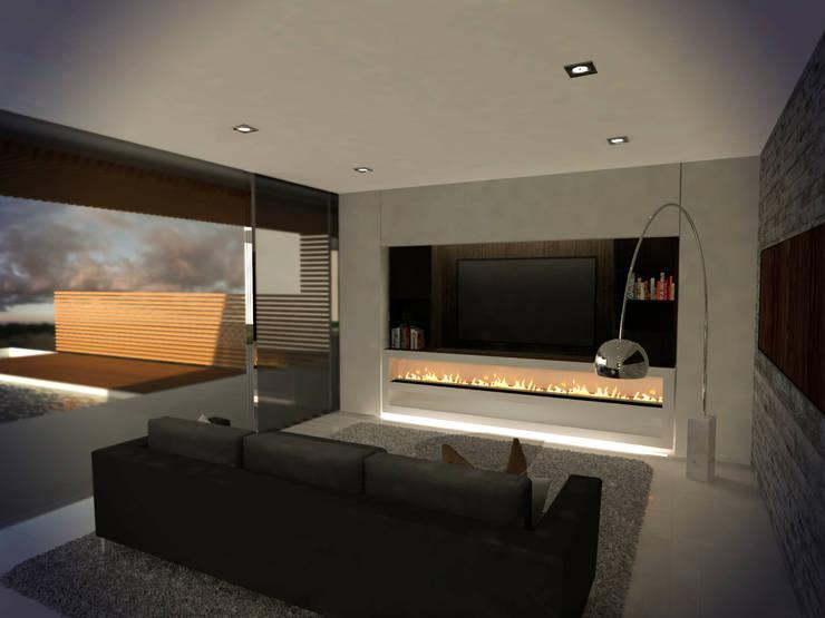 Living : Livings de estilo  por Metamorfosis Arquitectura,