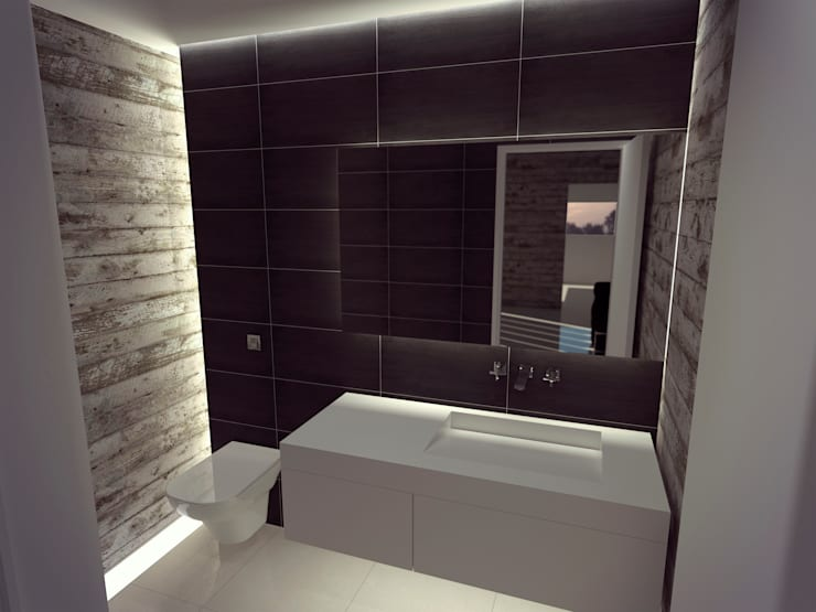 Bathroom by Metamorfosis Arquitectura, Modern Concrete