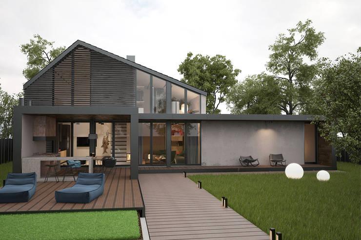 Современный дом. Фасад: Дома в . Автор – Zooi
