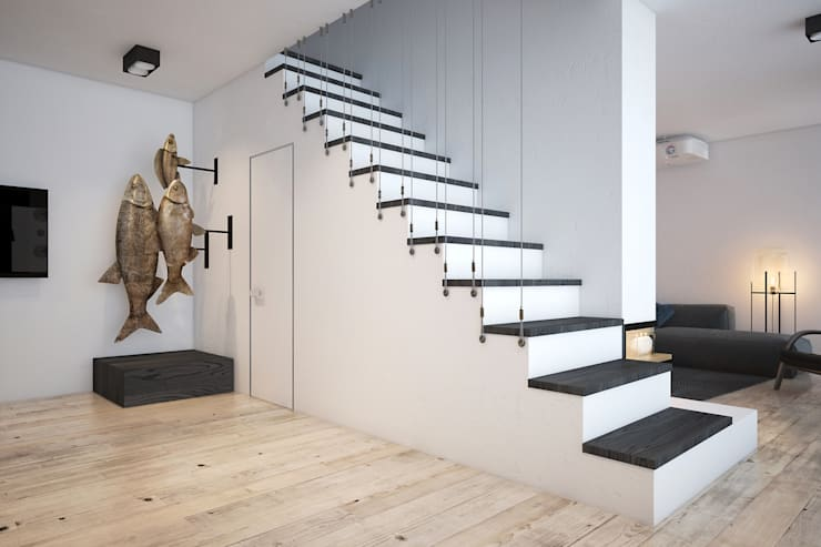 Лестница по эскизу дизайнеров Zooi: Коридор и прихожая в . Автор – Zooi