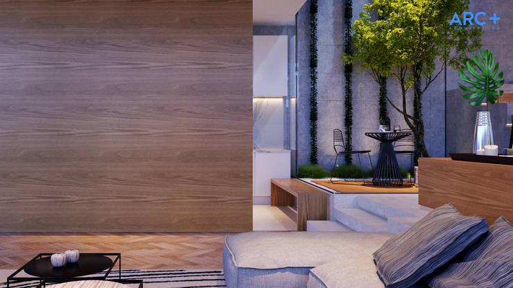 Separação entre ambientes - noite: Cozinhas modernas por ARC+ Arquitetura