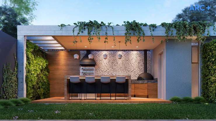 Casa Ribeirão: Garagens e edículas  por ARC+ Arquitetura