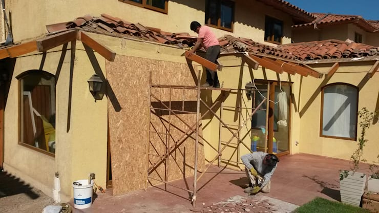 Demolicion de aleros: Terrazas  de estilo  por Tu Obra Maestra