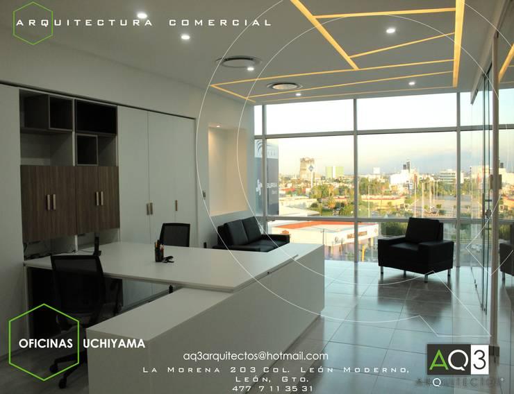 UCHIYAMA: Estudios y oficinas de estilo moderno por AQ3 Arquitectos