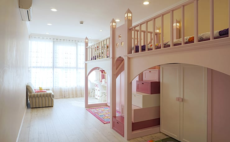 Căn hộ Tân Cổ Điển Lãng Mạn ở Thăng Long No1:  Phòng trẻ em by Công ty cổ phần NỘI THẤT AVALO