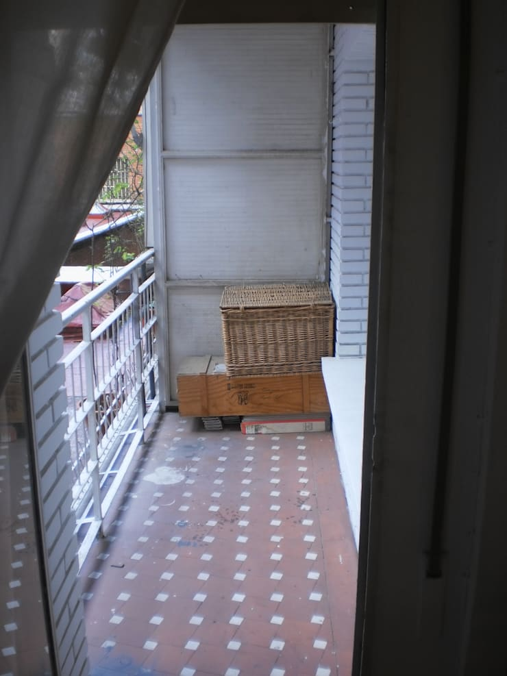 Terraza antes:  de estilo  de Lúmina Home Staging