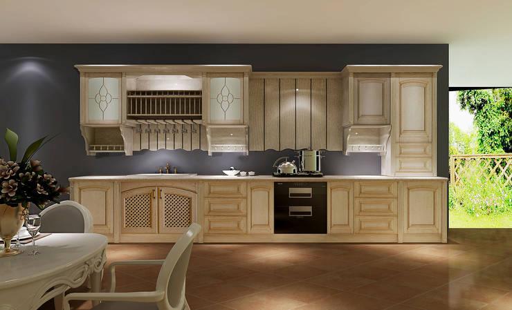 YALIG Solid Wood Kitchen Cabinets:  Kitchen by YALIG Kitchen Cabinet