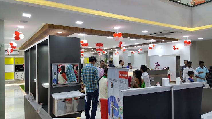 Maruthi Traders:  Commercial Spaces by Sahana's Creations Architects and Interior Designers,Modern
