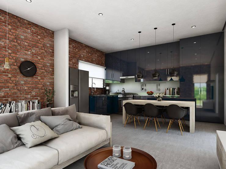Sala comedor y cocina en un solo espacio 20 ejemplos for Modelos de cocina comedor modernos