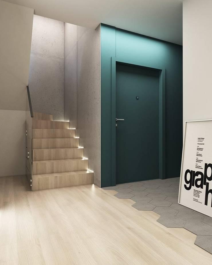 Corridor & hallway by FOORMA Pracownia Architektury Wnętrz