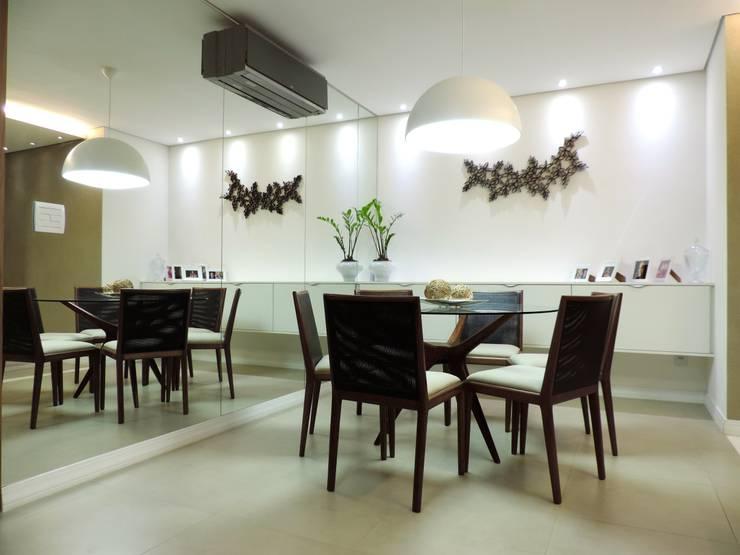 Apartamento LP: Salas de jantar modernas por Escritório 238 Arquitetura