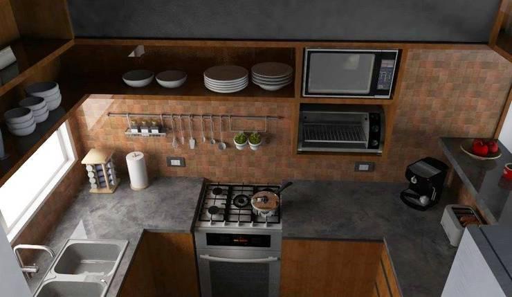 Diseño Cocina – Vivienda Balbin: Cocinas de estilo  por Estudio Punto y Linea,