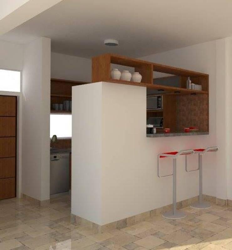 Diseño Cocina - Vivienda Balbin: Cocinas de estilo  por Estudio Punto y Linea,