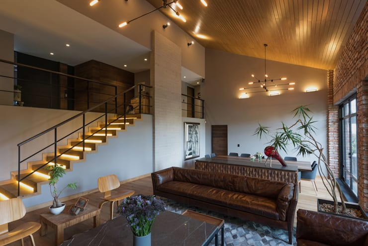 Casa AR Salones modernos de ARCO Arquitectura Contemporánea Moderno