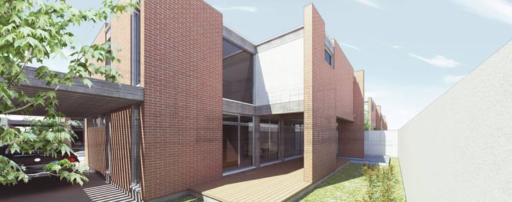 Fachada Trasera: Casas de estilo  por Tu Obra Maestra