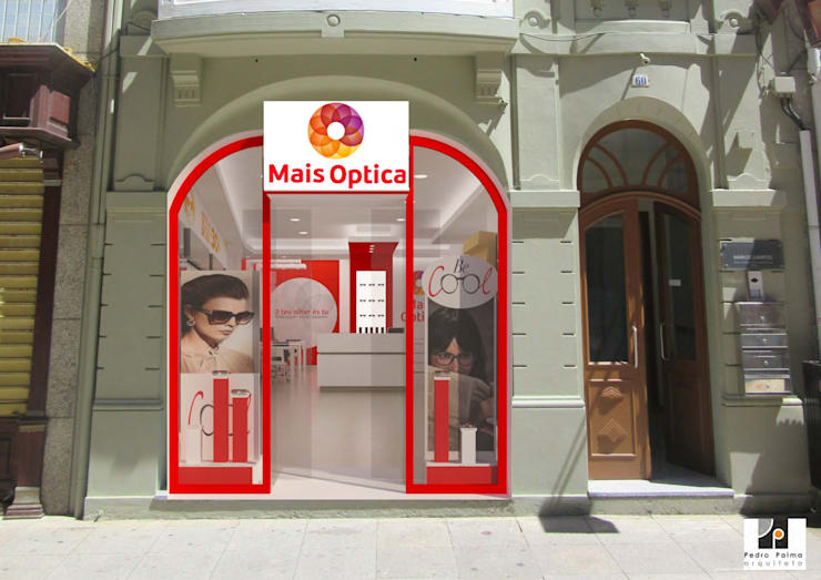 Loja MAIS OPTICA: Espaços comerciais  por Pedro Palma Arquiteto,Moderno