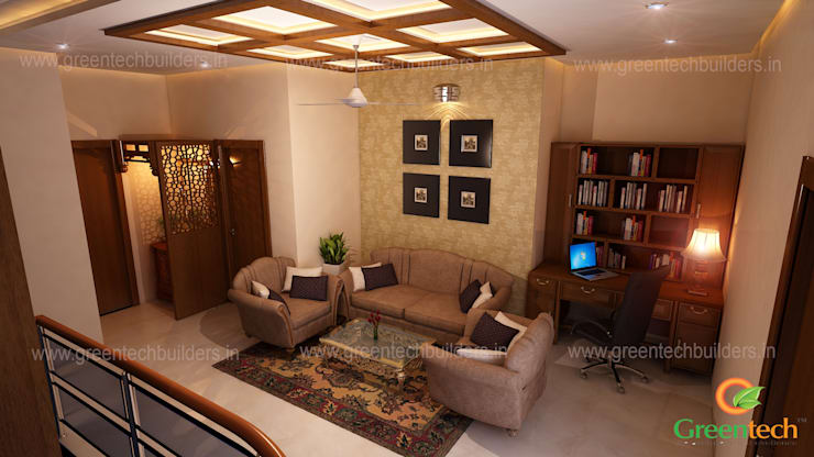 Best Interior Designers in Kochi: asian Living room by Greentech Interiors