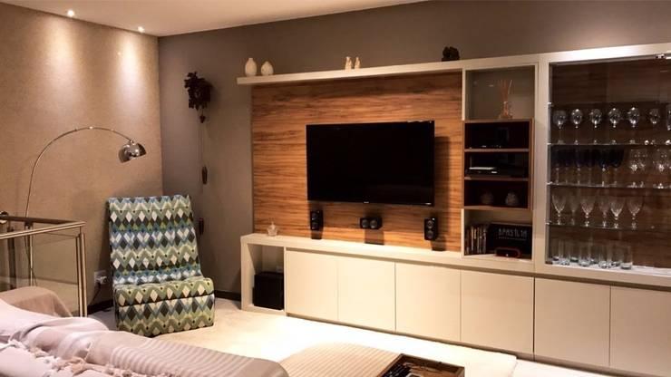 Apartamento ADN: Salas de estar  por Escritório 238 Arquitetura